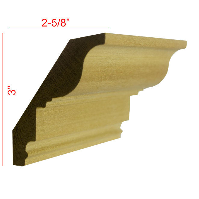Poplar Crown Molding EWCR47