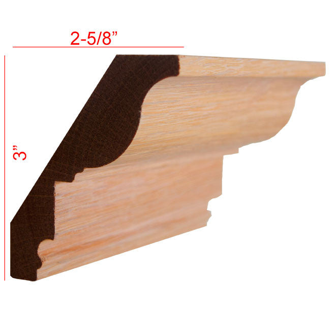 Red Oak Crown Molding EWCR47