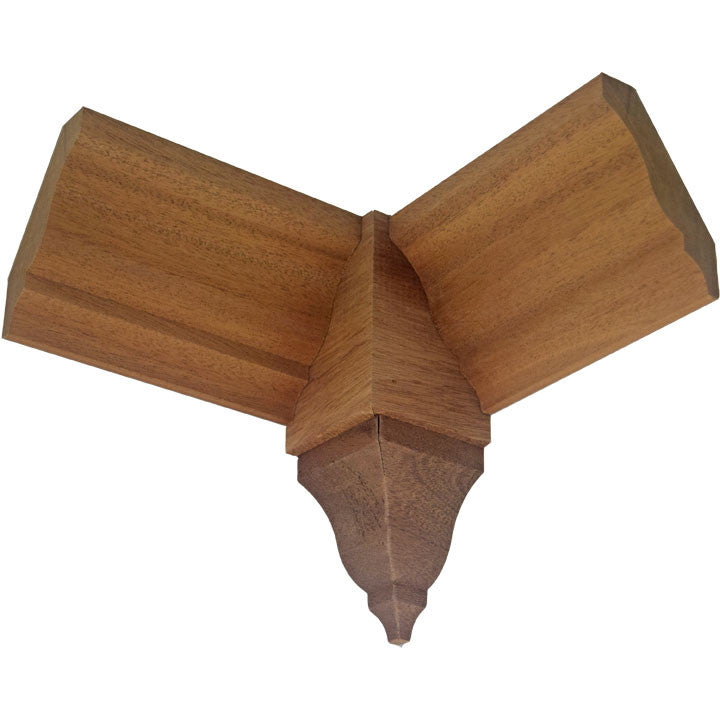 Sapele Mahogany Crown Inside Corner Block EWCR61