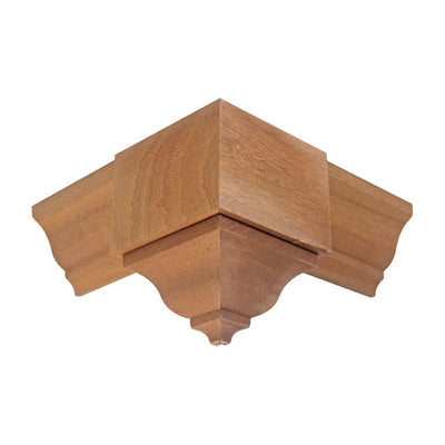 Sapele Mahogany Crown Outside Corner Block EWCR63