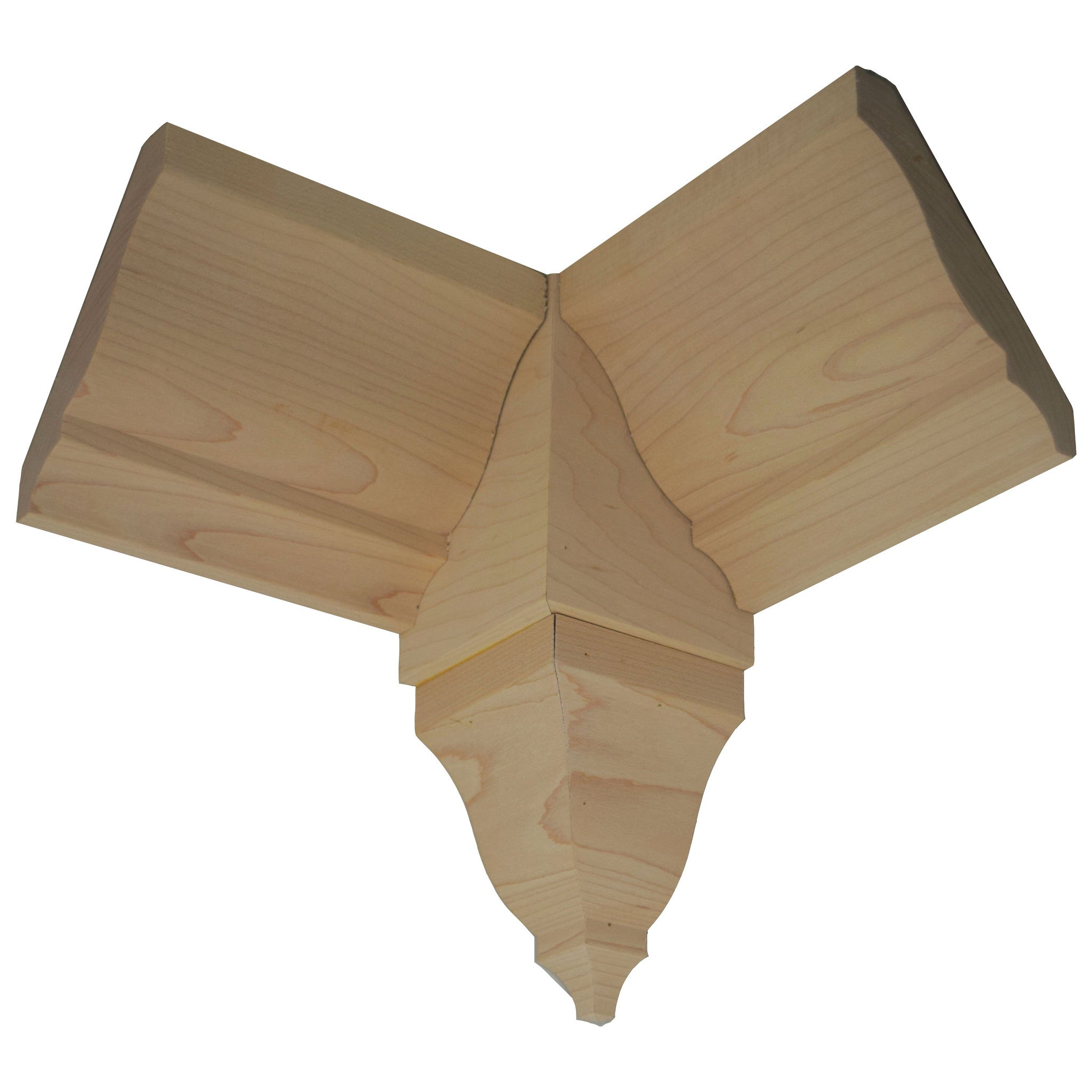 "Maple Crown Molding Inside Corner Block EWCR81 3"" X 3"" X 8"