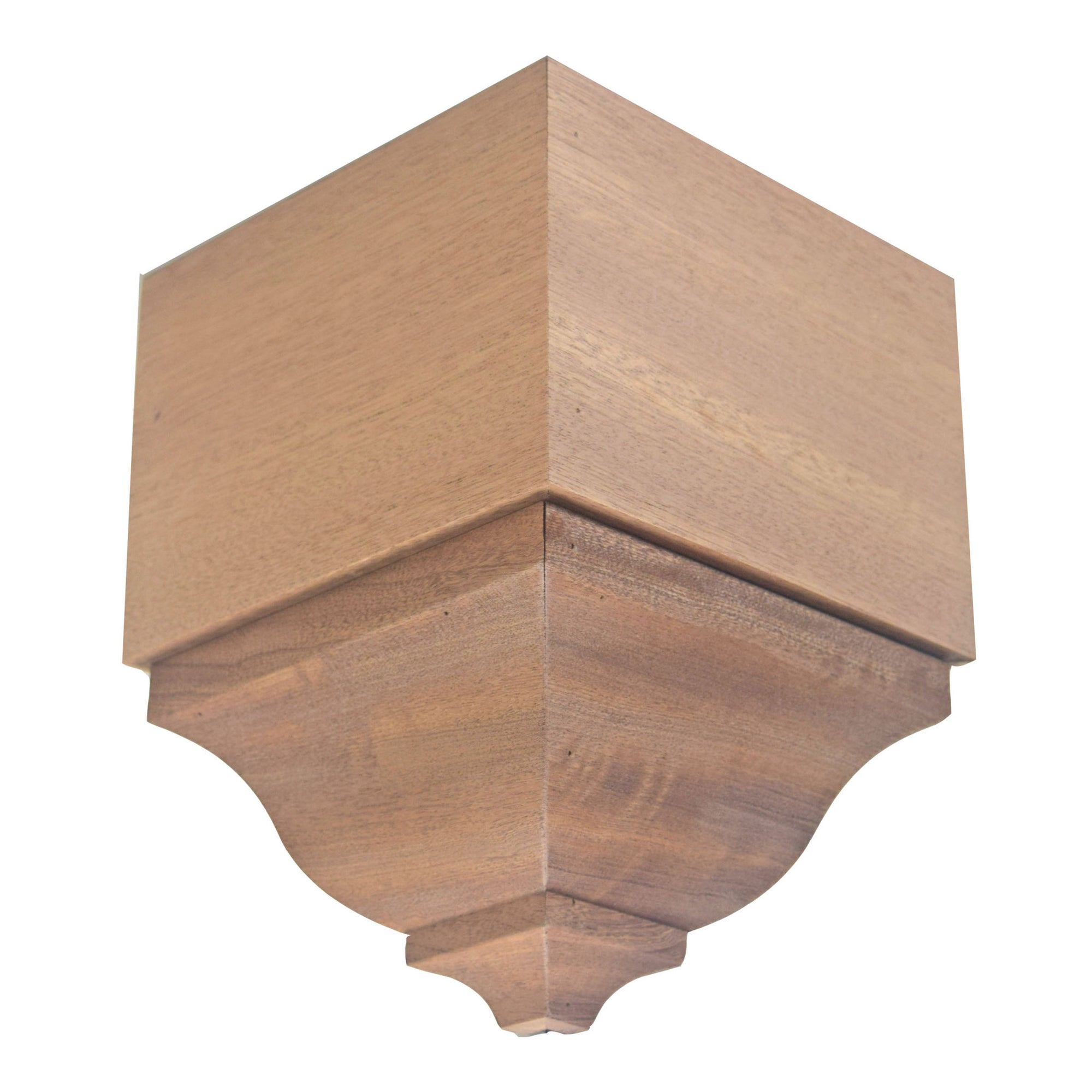 Sapele Mahogany Crown Outside Corner Block EWCR83