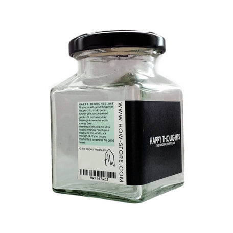 House Of Wonderland - Glass Happy Thoughts Jar