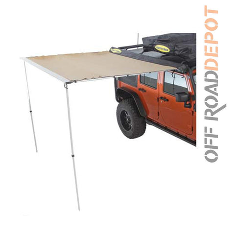 S/B 2784 - SOMBRA RETRACTIL SMITTYBILT COLOR TAN 8.2FT X 6.2FT