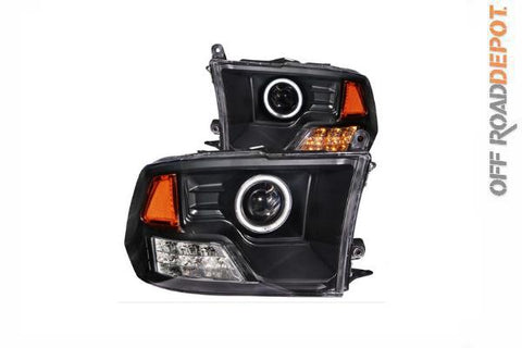 ANZ 111159 - FAROS PRINCIPALES LED DODGE RAM 1500 09-15 C/ ARO ANGEL