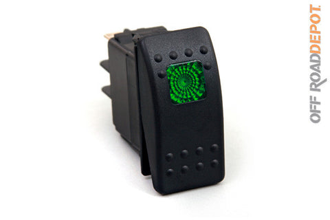 Rocker Switch Verde