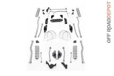 R/E JK4444 - SUSPENSION R.E. 4.5 EXTREME DUTY KIT BRASO LARGO JEEP JK (NO SHOCK)