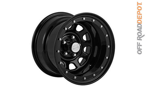 Rin Rock Crawler Series 152 Gloss Black 15x8 (6x5.5)