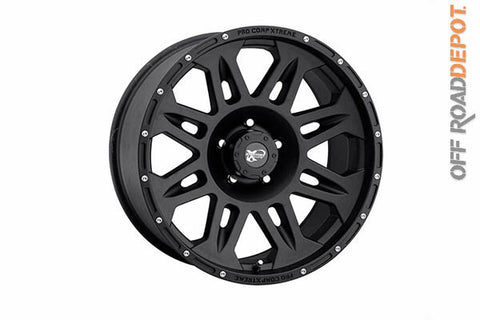 Rin Flat Black 17x9 (6x5.5) 4.75 BS