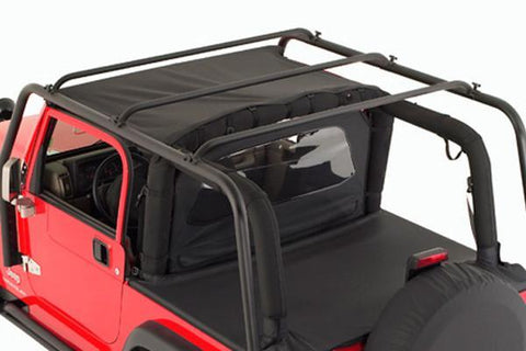 S/B 76713 - ROOF RACK JEEP TJ 97-06 BLK TEXTURED