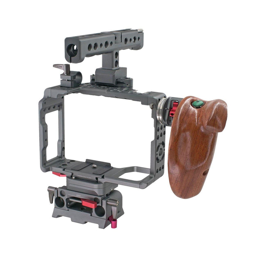 Sony A7SII Rig with Wooden Handle-Right Back View