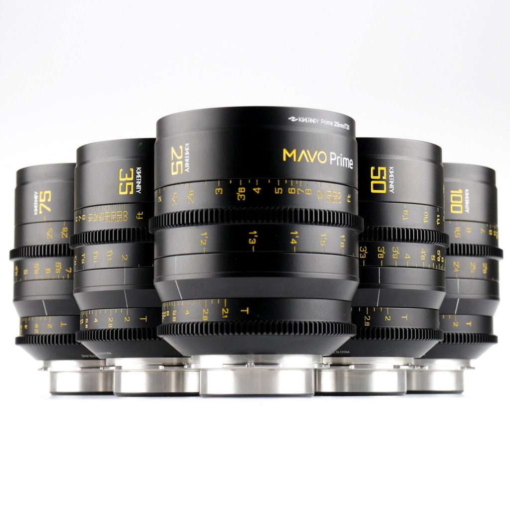 Kinefinity MAVO Prime T2.0 Set 5-Lenses (PL-Mount) - Cinetx