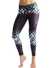 Turquoise Graphed Compression Legging