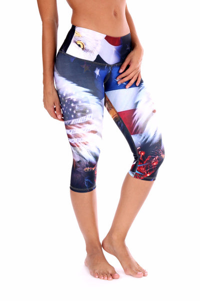 4th of July Compression Capri