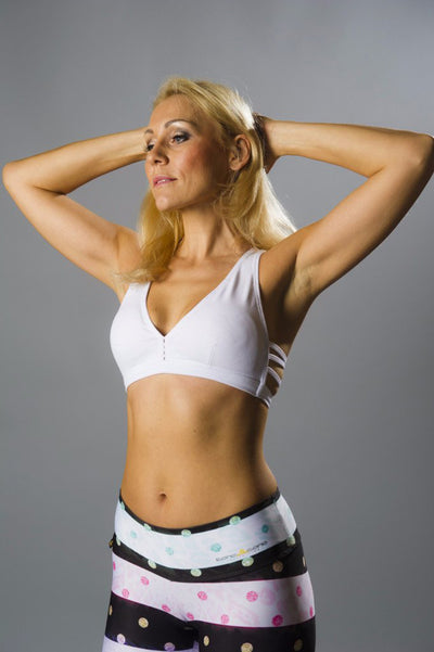 All A-Bout White Sports Bra