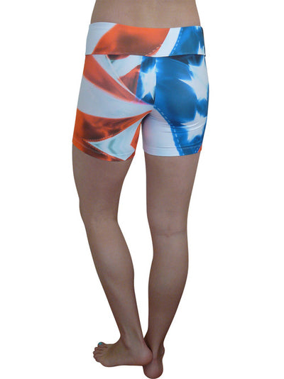 Red White and Blue Compression Shorts