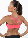 Orange Laced Sports Bra