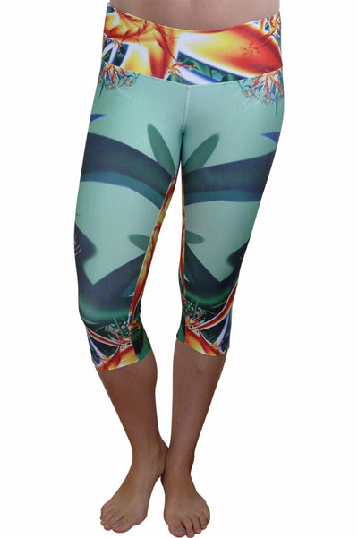 Birds of Paradise  Compression Capri