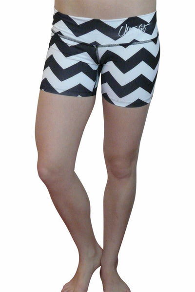 Black White Zig Zag Shorts