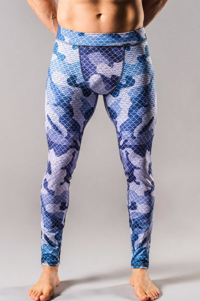 Blue Camo Mens Tights