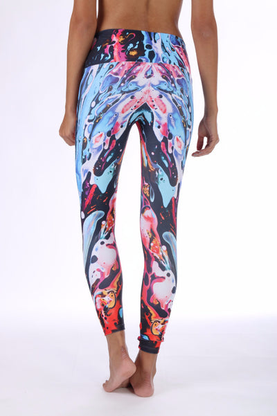 Blue Paint Compression Legging
