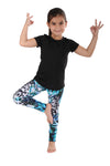 Bubble blue tiger Kids Legging