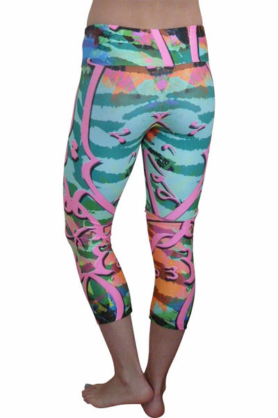 Candy Stripe Compression Capri