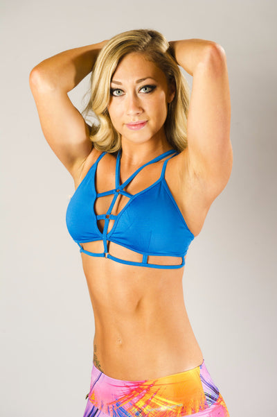 Chained Sports Bra blue