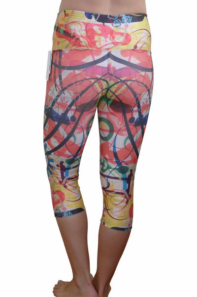 Doodles Compression Capri