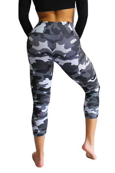 Electric Camo Compression Mid-Calf Capri