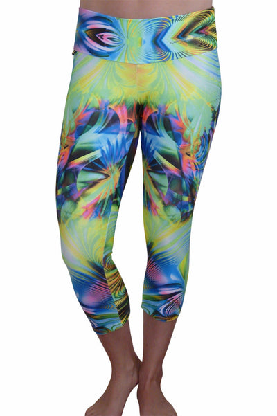 Fluorescent Fiesta Compression Capri