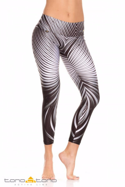 Black and White Ripples Legging