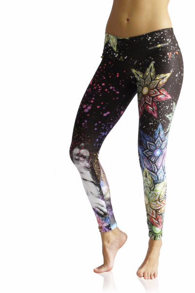 Galactic Howl Compression Leggings