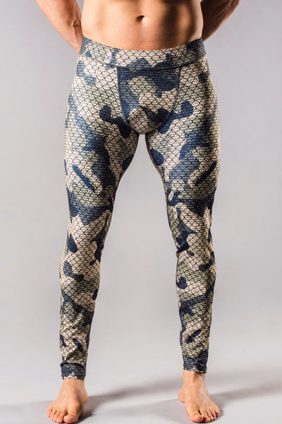 Green Camo Mens Tights