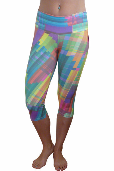 Grid Hi Rise Supplex Capri