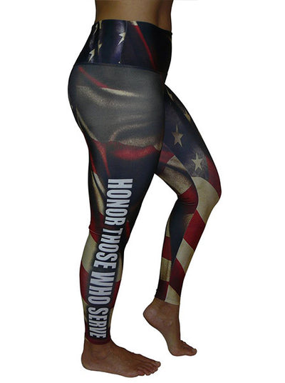 Honor Those Who Serve Compression Leggings