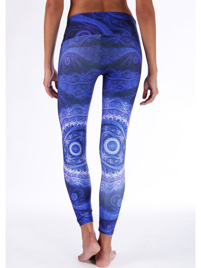 Purple Waves Compression Legging