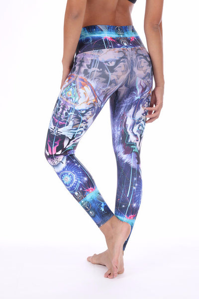 Cyber Tiger Compression Leggings
