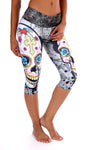 Sugar Skull II Compression Capri