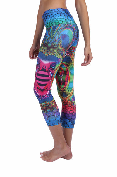 Be Happy Crop Compression Leggings