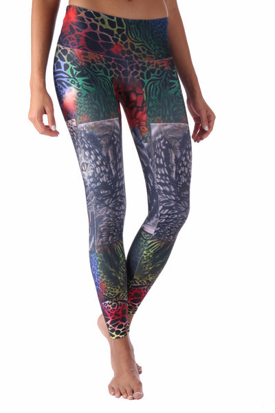 Black and White Tiger Compression Leggings