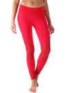 Red Printed Mesh Compression Legging