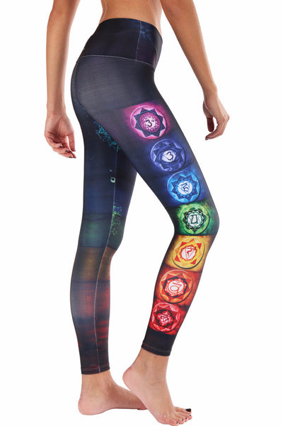 Colorful Chakras Compression Legging