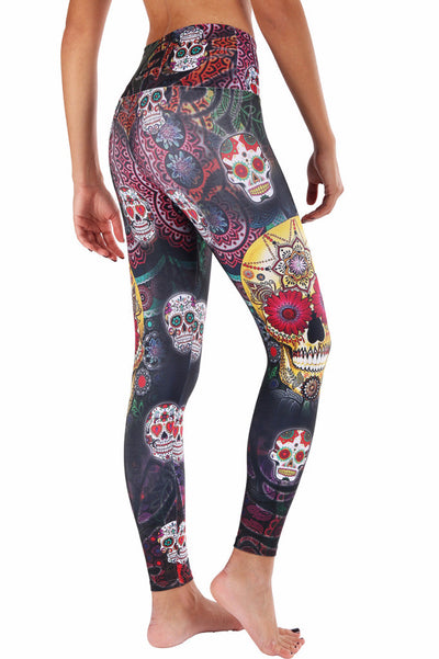 Gold Skull Compression Legging