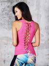 Pink Diamond Lace Tank