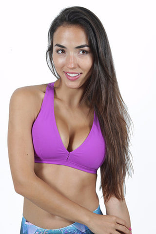 All About Sports Bra Purple