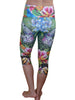 Monarchs and Flowers Compression Capri
