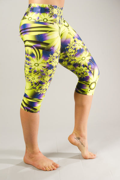 Neon Bliss Compression Capri