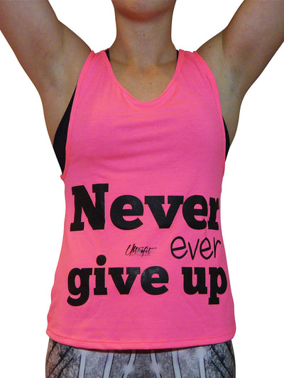 Never Ever Give Up Tank Top