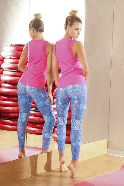 Paisley Buddha Compression Legging